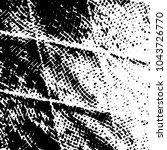 grunge halftone black and white ... | Shutterstock .eps vector #1043726770