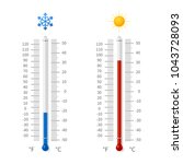 hot and cold weather... | Shutterstock .eps vector #1043728093