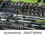 set of tools for car repair in... | Shutterstock . vector #1043728594