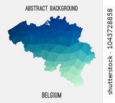 belgium map in geometric...   Shutterstock .eps vector #1043728858