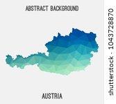 austria map in geometric...   Shutterstock .eps vector #1043728870