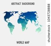 world international map in...   Shutterstock .eps vector #1043728888