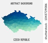 czech republic map in geometric ... | Shutterstock .eps vector #1043729086