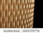 warm light shining through... | Shutterstock . vector #1043729776