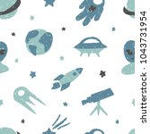 childish seamless pattern with...   Shutterstock . vector #1043731954