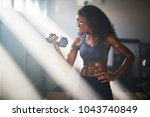 fit athletic african american... | Shutterstock . vector #1043740849