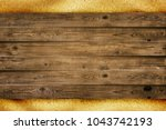 wood planks board is over sand... | Shutterstock . vector #1043742193
