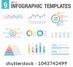9 infographic templates  set 1  ... | Shutterstock .eps vector #1043742499