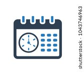time schedule icon | Shutterstock .eps vector #1043746963