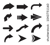 set of black vector arrows.... | Shutterstock .eps vector #1043751160