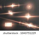illustration of lens flare... | Shutterstock . vector #1043751229