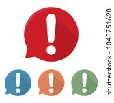 exclamation mark icon.... | Shutterstock .eps vector #1043751628