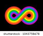 infinity peace rainbow design...   Shutterstock .eps vector #1043758678