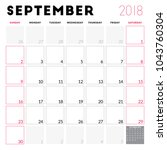 calendar planner for september... | Shutterstock .eps vector #1043760304