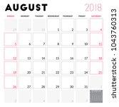 calendar planner for august... | Shutterstock .eps vector #1043760313