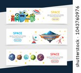 space horizontal banners with... | Shutterstock .eps vector #1043760976