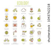 collection of ecology thin line ... | Shutterstock .eps vector #1043762218