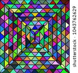 colored background triangles | Shutterstock .eps vector #1043762629
