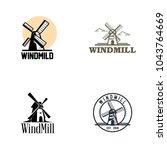 windmill logo design | Shutterstock .eps vector #1043764669