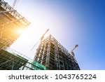 construction site during sunset | Shutterstock . vector #1043765224