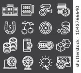 casino icon set. collection of... | Shutterstock .eps vector #1043766640