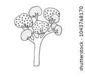 hand drawn stylized tree ... | Shutterstock .eps vector #1043768170