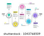 company journey path.... | Shutterstock .eps vector #1043768509