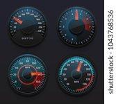 futuristic car speedometers ... | Shutterstock .eps vector #1043768536