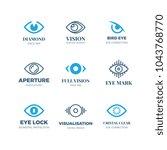 magic eye logos. mysterious... | Shutterstock .eps vector #1043768770