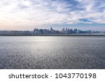 empty road with panoramic...   Shutterstock . vector #1043770198