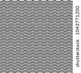 Wavy, waving horizontal lines seamlessly repeatable pattern | Shutterstock vector #1043771200