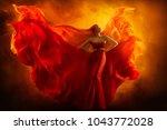 fashion model art fantasy fire... | Shutterstock . vector #1043772028