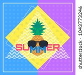 colorful summer creative banner ... | Shutterstock .eps vector #1043773246