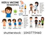 vaccination concept...   Shutterstock .eps vector #1043775460