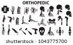 orthopedic spinal joint bone...   Shutterstock .eps vector #1043775700