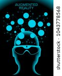 cyberspace  augmented reality ... | Shutterstock .eps vector #1043778568