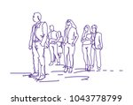 group of business people... | Shutterstock .eps vector #1043778799