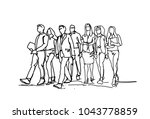 group of hand drawn business... | Shutterstock .eps vector #1043778859