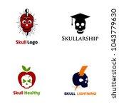skull logo design | Shutterstock .eps vector #1043779630