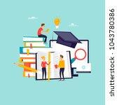 online education  training... | Shutterstock .eps vector #1043780386