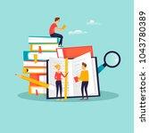 online education  training... | Shutterstock .eps vector #1043780389