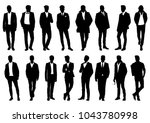 silhouette of a man in a... | Shutterstock .eps vector #1043780998