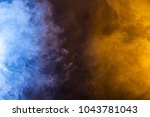 blue and yellow smoke texture... | Shutterstock . vector #1043781043