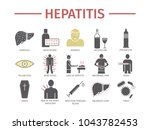 hepatitis icon infographics....   Shutterstock .eps vector #1043782453
