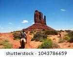 Navajo Horse Rider Leading A...