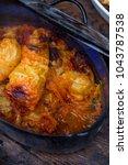 stuffed cabbage rolls  ... | Shutterstock . vector #1043787538