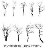 dead tree without leaves vector | Shutterstock .eps vector #1043794840