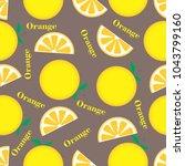 fruit orange seamless pattern | Shutterstock .eps vector #1043799160