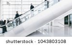 crowd of blurred business... | Shutterstock . vector #1043803108