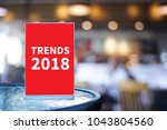 trends 2018 inscription  trendy ...   Shutterstock . vector #1043804560